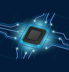 Computer processor electronic technology vector