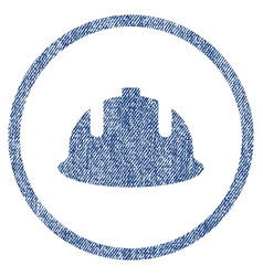 construction helmet fabric textured icon vector image