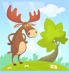 Cool cartoon moose vector