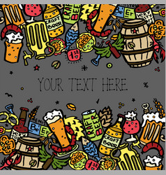 craft beer hand drawn elements vector image