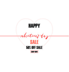 creative valentines day sale background vector image