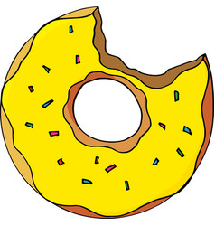 doughnut bright cartoon vector image
