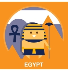 Egyptian in Traditional Clothes vector