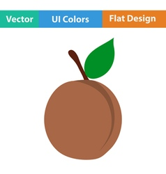 Flat design icon of Peach vector image