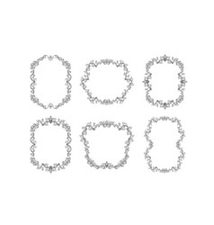Floral borders set for picture or italian ornament vector