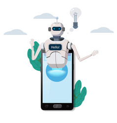 Free chat bot robot virtual assistance on vector