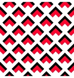 Geometric White Black Red Pattern vector