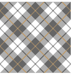 gold platinum checkered plaid seamless pattern vector image