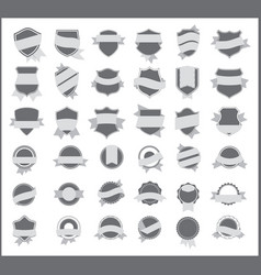 gray stickers set 5 vector image