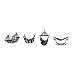 Hammock icons set simple style vector