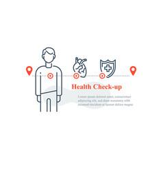 heart illness diagnostic cardiovascular disease vector image