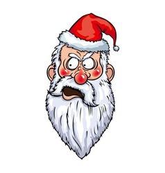 Indignant Santa Head vector image