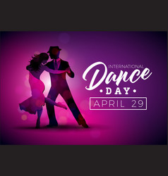 International dance day with vector