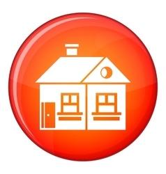 Large single-storey house icon flat style vector