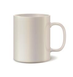 Light pearl ceramic mug for printing logo vector image