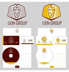 Lion logo templates set for your business vector