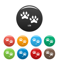 lion step icons set color vector image