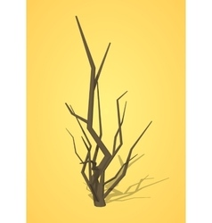 Low poly dried tree vector