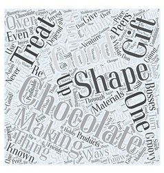 Making Chocolate and Ways to Shape It Up Word vector