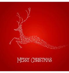 Merry Christmas deer star shape vector image