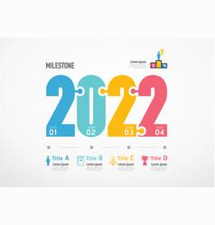 Milestone step planner 2022 infographic success vector