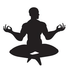 Monk in meditation vector