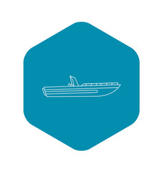 motor speed boat icon outline style vector image