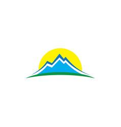 mountain landscape hiking logo vector image
