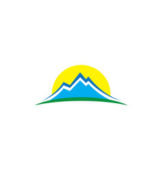 Mountain lanscape hiking logo vector