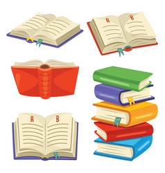 of reading book vector image