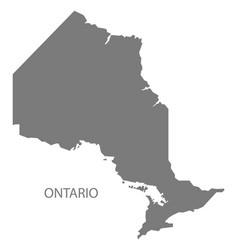 Ontario canada map grey vector