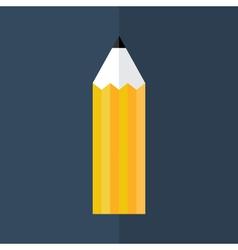 Orange pencil icon over blue vector