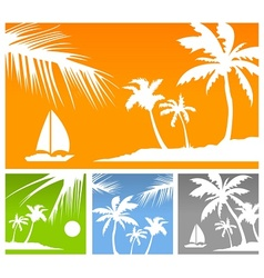Palms color background vector