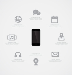 Phone Information vector image