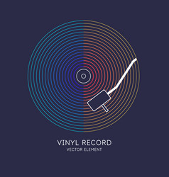 poster vinyl record music vector image