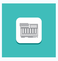 Round button for synth keyboard midi synthesiser vector