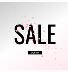 sale banner with text vector image