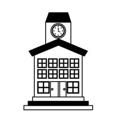 School building front icon vector