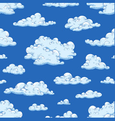 Seamless pattern with gorgeous natural cloudscape vector