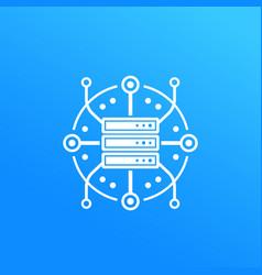 server hosting data storage icon vector image