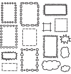 Set of hand drawing frames vector