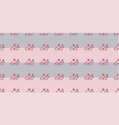 simple cute patterns in small-scale flowers vector image vector image