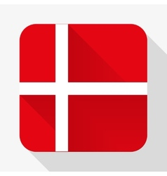 Simple flat icon Denmark flag vector image