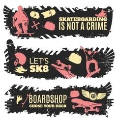 Skateboarding Banner Set vector image