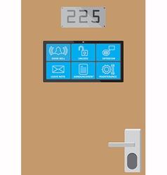 Smart door screen vector image