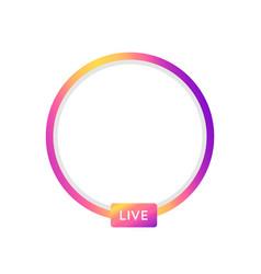 social media icon avatar stories user live video vector image