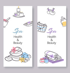 Spa health and beauty doodles vector