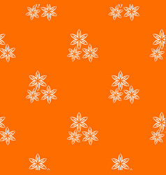 Star anise pattern seamless vector
