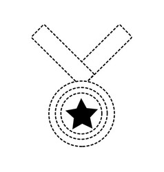 star medal design vector image