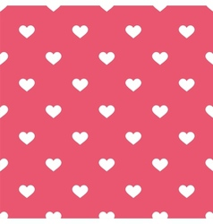 tile cute pattern white hearts pink background vector image